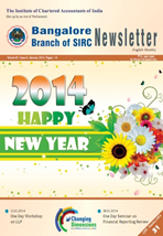 Cover of January 2014 Newsletter