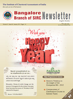 Cover of January 2013 Newsletter