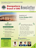 Cover of February 2013 Newsletter