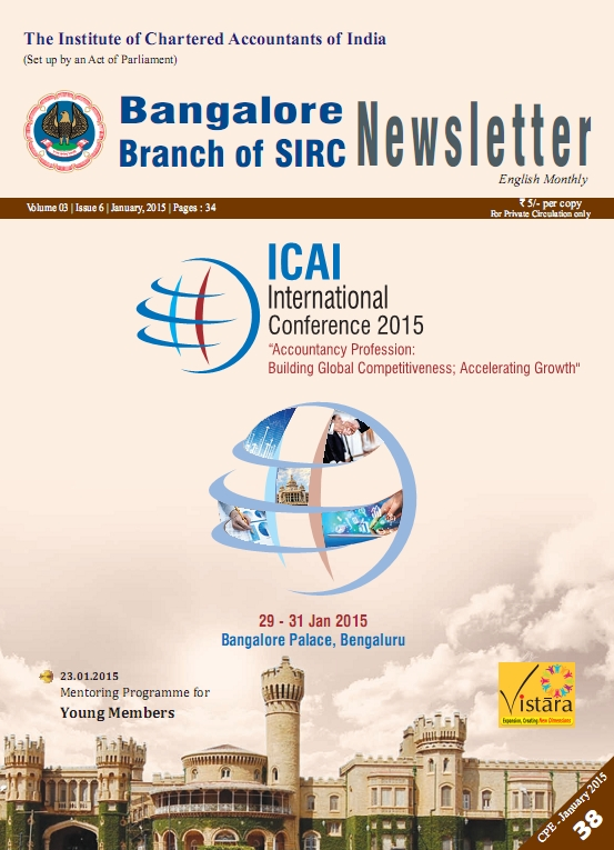 Cover of January 2015 Newsletter