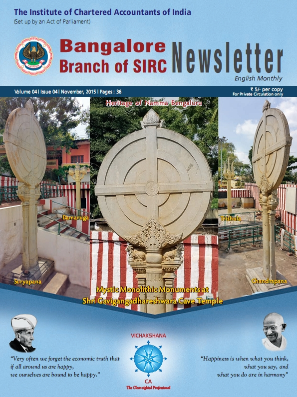 Cover of November 2015 Newsletter