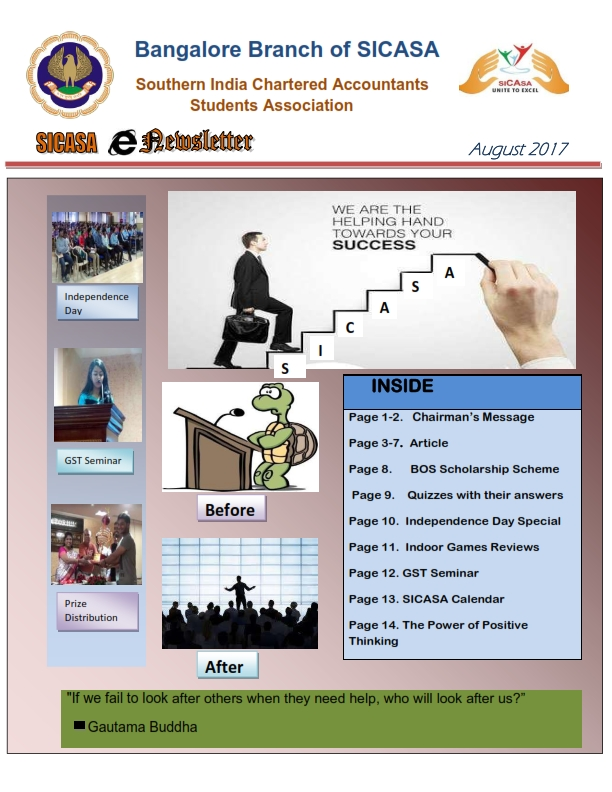 August 2017 SICASA Newsletter