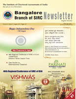 Cover of August 2012 Newsletter