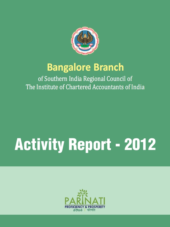 Cover of 2012 Activity Report